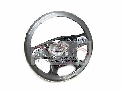 Chevrolet Silverado Heated Leather Steering Wheel Black w/Grey Stitch New OEM