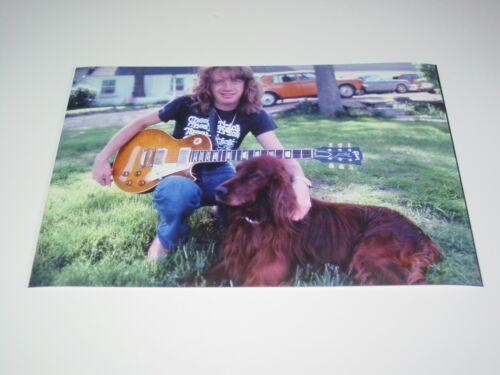 Aerosmith 8X12 Photo Brad Whitford Rare Candid Les Paul Guitar Draw Line 1977