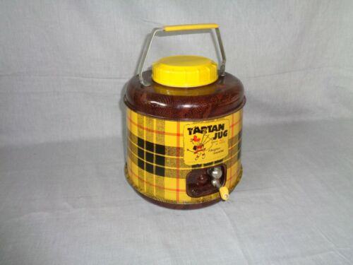 Vintage TARTAN JUG Fiberglass Insulated One Gallon Picnic Made In USA