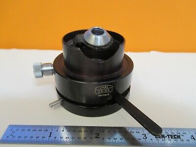 Carl Zeiss Germany Condenser Iris Polarizer Microscope As Pictured 1e-c-03