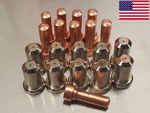 20pc 33366 Electrodes + 33369 50A Nozzles for ESAB© PT-23 PT-27 Plasma Cutter