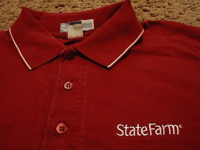 Mens State Farm Insurance Polo Shirt Size Large
