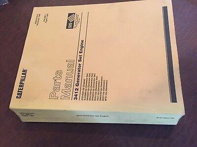 Cat Caterpillar 3412 Generator Industrial Engine Parts Book Sn 81z 3 Books Big
