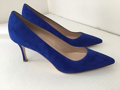Manolo Blahnik Blue Womans  Heel Shoes  .Sz 42 Made in Italy