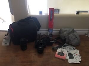 CANON DSLR Package T3i with 2 lenses and accessories. Like new.