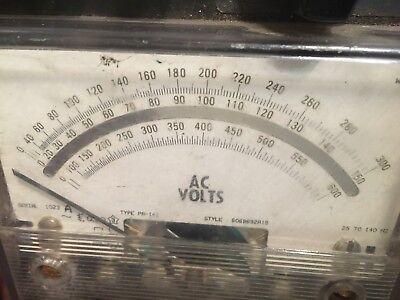 Vintage Weschler Ac Volts Voltmeter
