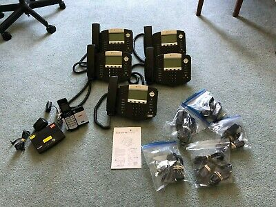 Lot Of 5x Polycom Soundpoint Ip550 Sip Digital Voip Telephone
