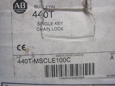 Nuevo ALLEN BRADLEY 440T-MSCLE100C Simple Llavero Cerradura 440TMSCLE100C