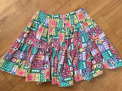 Vintage Mickeys Stuff For Kids Minnie Mouse SKIRT Girls Small 6 6x Walt - Skirts For Kids