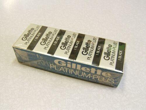 Vintage NOS Gillette Platinum Plus Double Edge Safety Razor Blade 20 Pack
