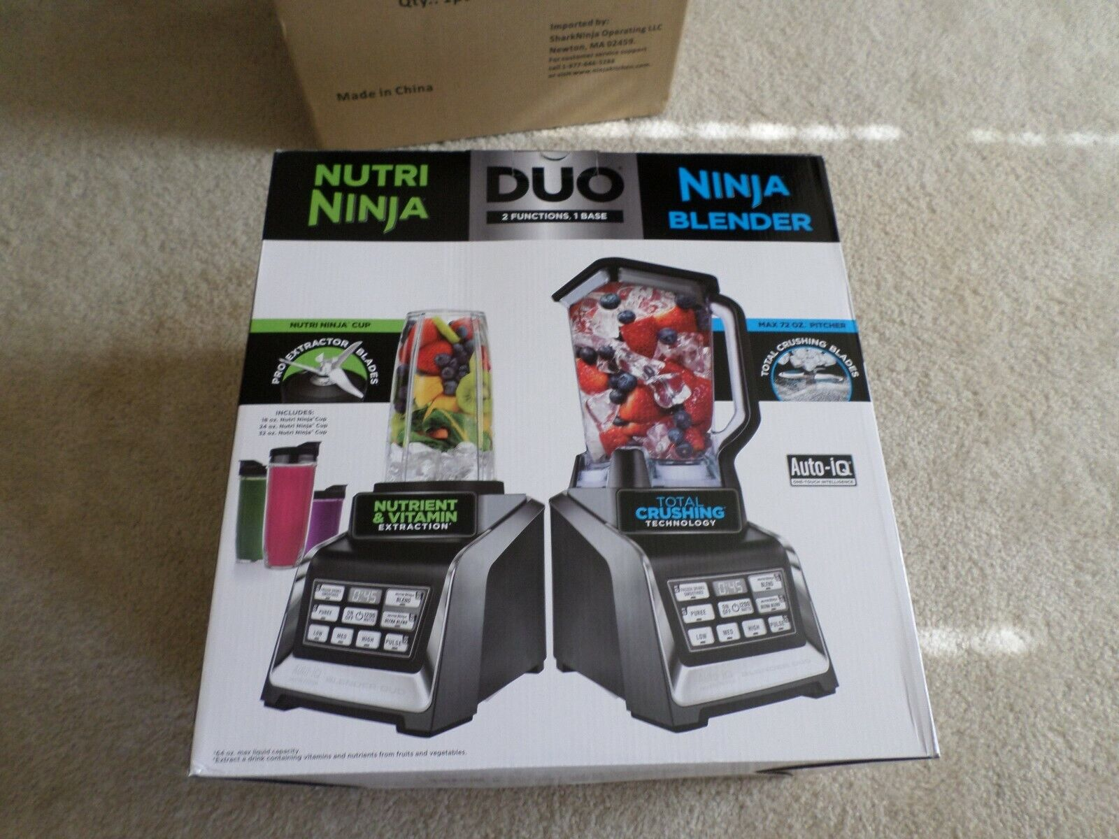 Nutri Ninja Personal and Countertop Blender with 1200-Watt A