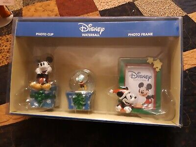 MICKEY MOUSE Disney gift pack Christmas Photo clip Waterball and Photo frame