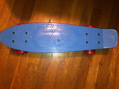 "Penny Skateboard Cruiser 22"" Blue Board and Red Wheels"