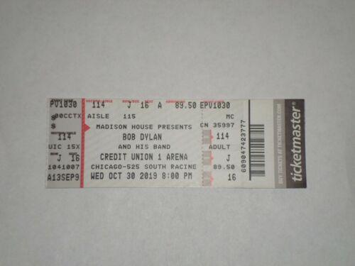 Bob Dylan Concert Ticket Stub-2019-Credit Union 1 Arena-Chicago,IL