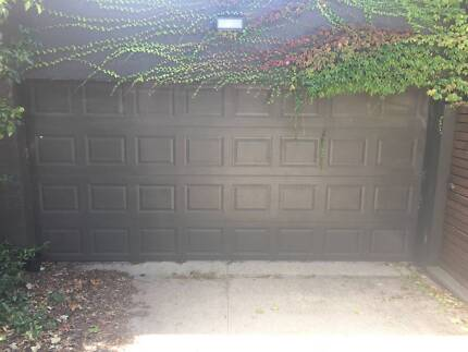 Sectional Panel Garage Doors Plus Motor And 2 Remotes Building