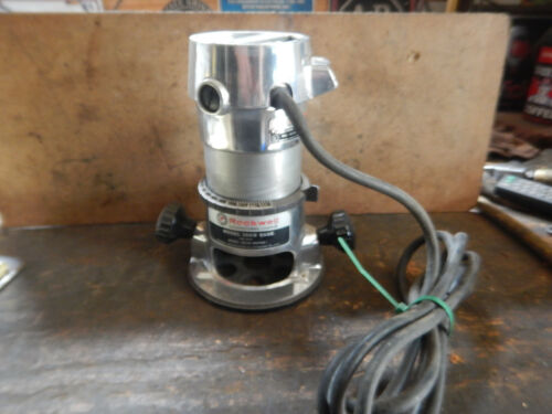 """VINTAGE PORTER CABLE ROCKWELL WOODWORKING ROUTER WITH 1/2"""" COLLET"""