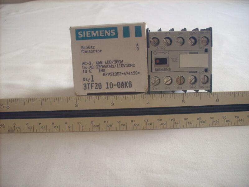 Siemens 3TF2010-AOK6 Contactor