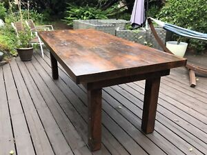 Handcrafted farmers dining table