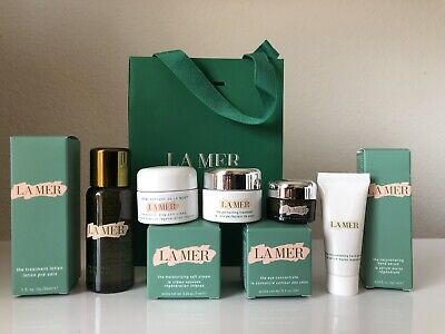 La Mer 4 Travel Eye,Treatment Lotion, MoIsturizer, Perfecting, Hand Serum for sale  Shipping to India