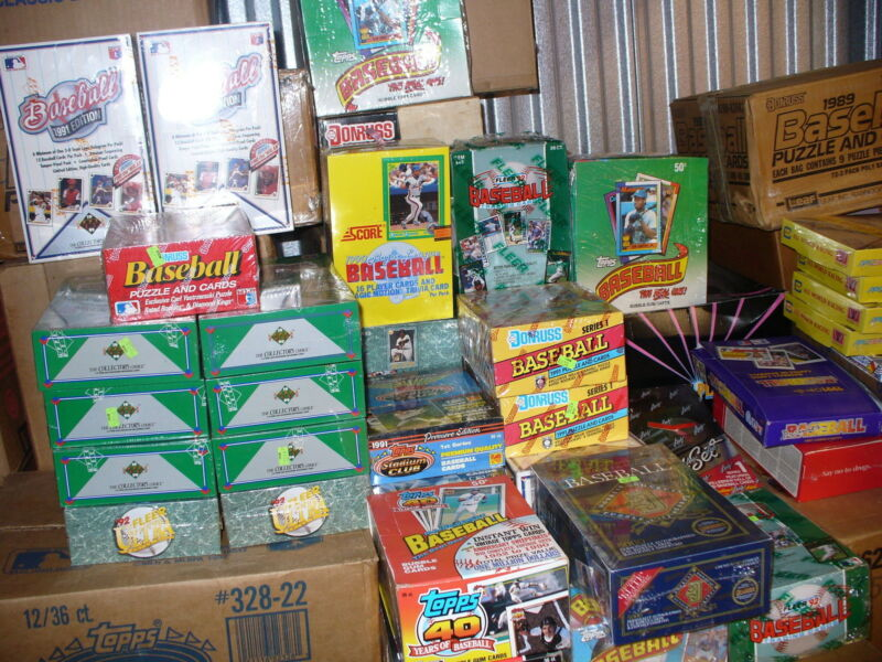 Huge Lot Unopened Baseball Card Packs Free Shipping Free Autograph Card Each Lot