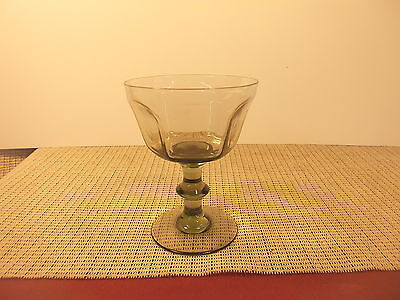Lenox  Crystal Antique Pale Green Pattern Champagne Sherbet Set 5