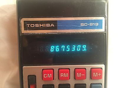 TOSHIBA Electronic Calculator BC-819 1970
