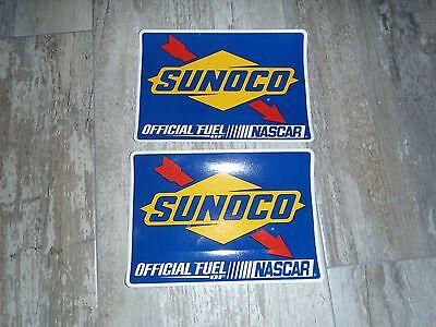 4  SUNOCO NASCAR Racing Stickers Decals 6 1/2 X 4 1/2 HOTROD CAR