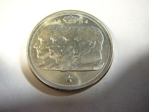 Belgium 1954 Silver 100 Francs 4 Kings BU