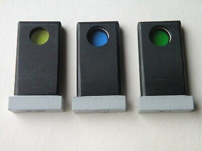 3 Glass Filters For Microscope Lomo