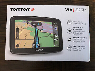 "TomTom VIA 1525M, 5"" Touchscreen GPS Navigation, Black, Brand New Sealed"