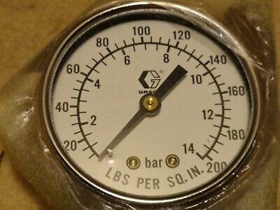 New Graco Sprayer Oem Gauge Pn 101-180 Genuine Factory Parts Fast Shipping
