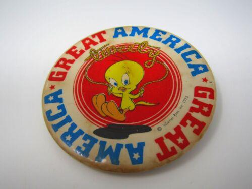 Vintage Pin Button: Great America Tweet Bird 1975