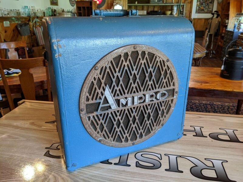 "Vintage 12"" Ampro Guitar Extension Speaker w/ Cabinet 1930"