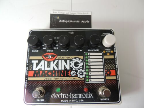 Electro Harmonix Talking Machine Vocal Formant Filter Effects Pedal Free USA S&H