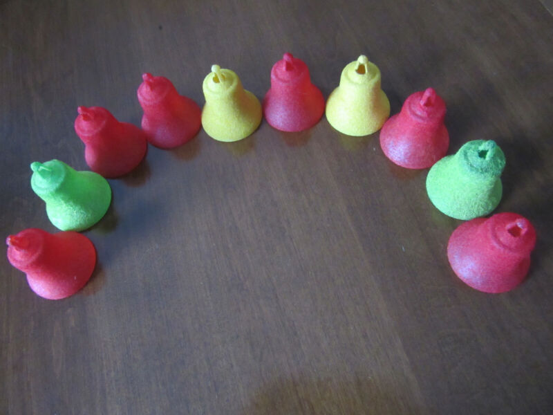 10  Vintage Christmas Bell Ornaments