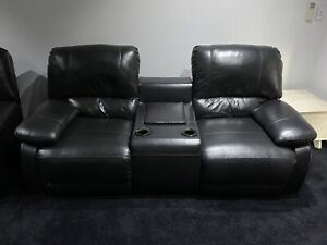 Home Theatre Genuine Leather Couch - last chance