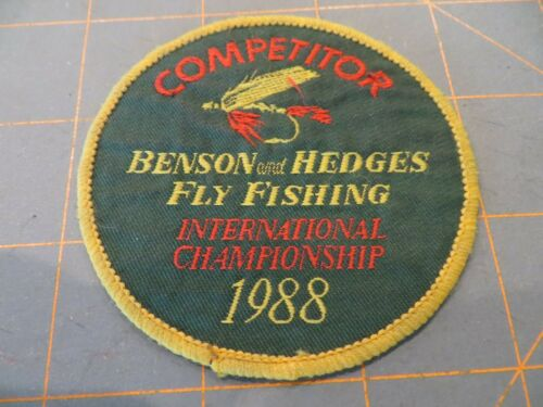 Vintage Mint 1988 Benson & Hedges Fly Fishing Patch - 3 inch