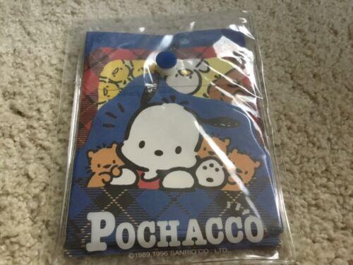 Vintage 90s Sanrio Pochacco mini stationery paper in vinyl case hello kitty New