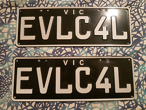 Custom Number Plates  EVL-C4L Frankston Frankston Area Preview