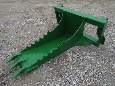 John Deere Tractor Loader Stump Bucket Dig Ditch Spade Attachment - Ship 199