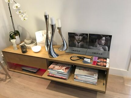 Solid Oak TV Console - Hand Made in Australia. Natural Finish