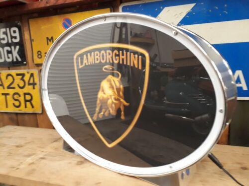Lamborghini,automobilia,classic,display,mancave,lightup sign,garage,workshop
