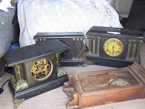 ANTIQUE CLOCKS JOB LOT OF 5 CLOCKS C1895 Newcastle Newcastle Area Preview