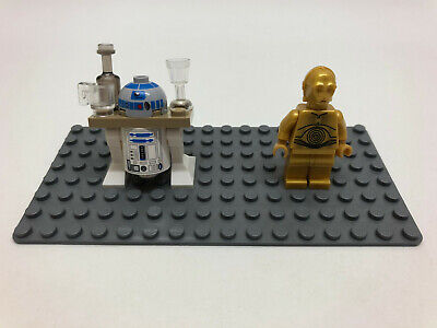 Genuine Lego Star Wars R2-D2 R2D2 with tray - Jabba's Sail Barge 75020 + C3PO