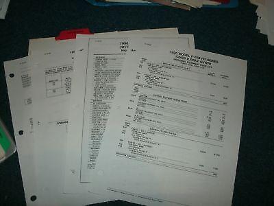(1990 FORD F250 F-250 HD PICKUP TRUCK DEALER ALBUM PRICE LIST SHEETS SET ORIGINAL)