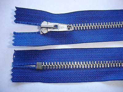 RV 341 Reißverschluß opti blau 24cm , nicht teilbar 2 Stück