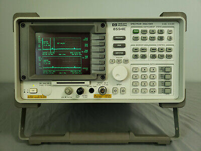 Hp Agilent 8594e 9khz - 2.9 Ghz Portable Spectrum Analyzer