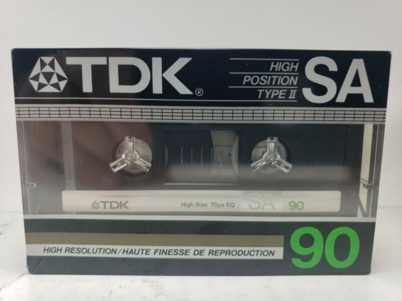 TDK SA90 High Position Type II Cassette High Resolution 90 Minutes New Sealed