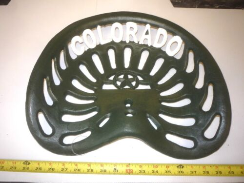 CAST IRON TRACTOR  BAR STOOL GARDEN  BENCH SEAT   COLORADO