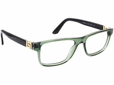 Versace Eyeglasses MOD. 3211 5144 Clear Green/Black Frame Italy 53[]17 145